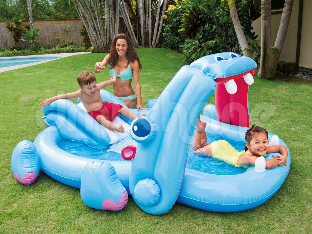 Dmuchany plac zabaw dla dzieci hipopotam 221 x 188 x 86 cm for Piscinas intex carrefour